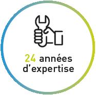 24 années d'expertise